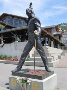 Famous Freddy Mercury statue