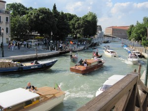 There are just two big parking in the beginning of the Venice island, people move there only by boats