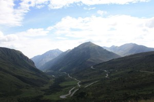 Beautiful landscapes on the way to Andorra