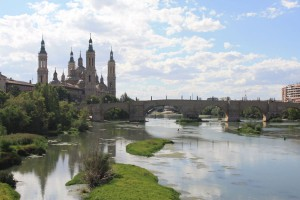 Stop in Zaragoza for launch with tapas and beautiful central square with cathedral