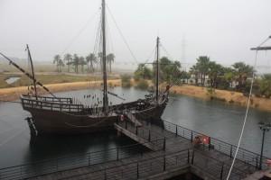 3 replicas of Columbus's caravels