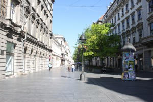 Major pedestrian street Kneza Mihaila is full of restaurants as well