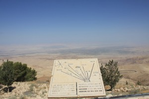Mountain Nebo. Place where Moses looked over Promised Land.