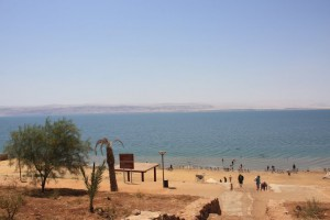 Dead Sea. Try to swim there, take some pictures with you in water reading newspaper