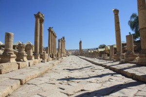 Jerash. Ancient Roman city. It is not what you see today in Rome. Good to see to get an idea how great Roman empire was.