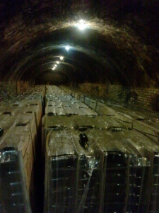 Underground cava storage in Pares Balta